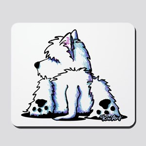 Cool Belly Westie Mousepad