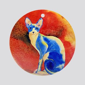 Sphynx Cat Ornament (Round)