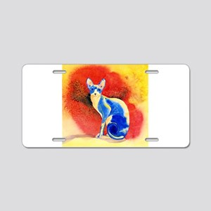 Sphynx Cat Aluminum License Plate