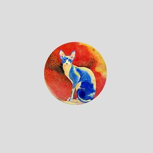 Sphynx Cat Mini Button