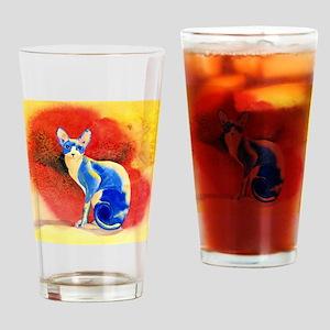 Sphynx Cat Drinking Glass