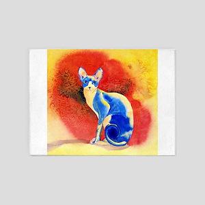 Sphynx Cat 5'x7'Area Rug