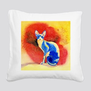 Sphynx Cat Square Canvas Pillow