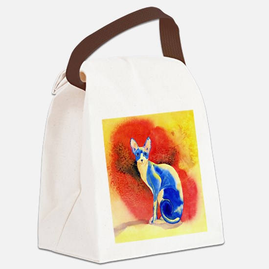 Sphynx Cat Canvas Lunch Bag