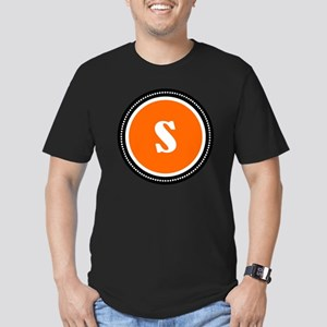 Orange Men's Fitted T-Shirt (dark)