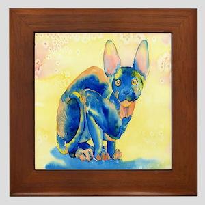 Sphynx Cat 1 Framed Tile