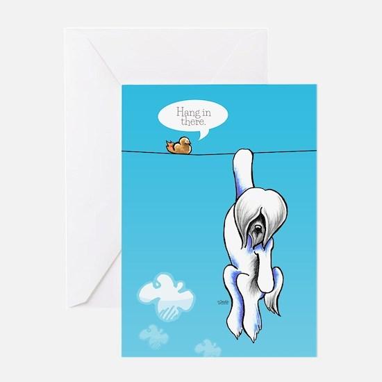 Lhasa Hang Off-Leash Art™ Greeting Card