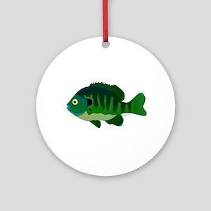 Bluegill sunfish v2 Ornament (Round)