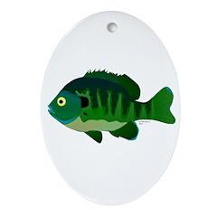 Bluegill sunfish v2 Ornament (Oval)