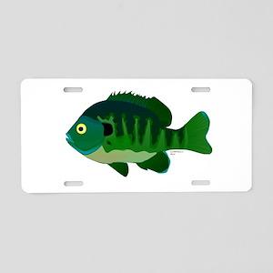 Bluegill sunfish v2 Aluminum License Plate