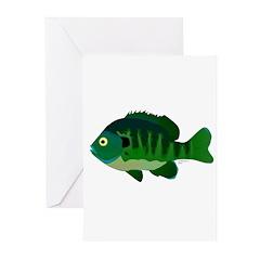 Bluegill sunfish v2 Greeting Cards (Pk of 10)