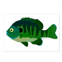 Bluegill sunfish v2 Postcards (Package of 8)