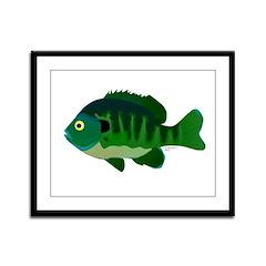 Bluegill sunfish v2 Framed Panel Print