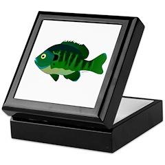 Bluegill sunfish v2 Keepsake Box