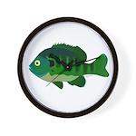 Bluegill sunfish v2 Wall Clock