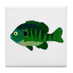 Bluegill sunfish v2 Tile Coaster