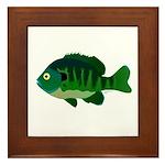 Bluegill sunfish v2 Framed Tile