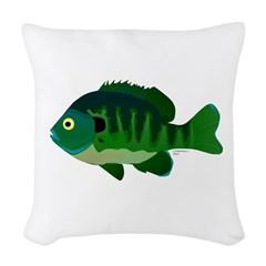 Bluegill sunfish v2 Woven Throw Pillow