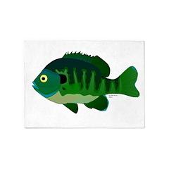 Bluegill sunfish v2 5'x7'Area Rug