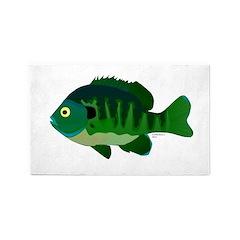 Bluegill sunfish v2 3'x5' Area Rug