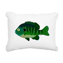 Bluegill sunfish v2 Rectangular Canvas Pillow