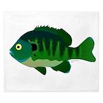 Bluegill sunfish v2 King Duvet