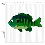 Bluegill sunfish v2 Shower Curtain