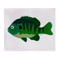 Bluegill sunfish v2 Throw Blanket