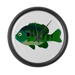 Bluegill sunfish v2 Large Wall Clock