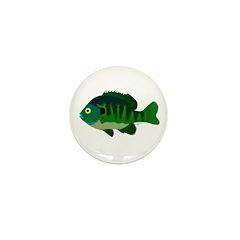 Bluegill sunfish v2 Mini Button (100 pack)