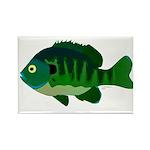 Bluegill sunfish v2 Rectangle Magnet (100 pack)