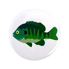 "Bluegill sunfish v2 3.5"" Button (100 pack)"