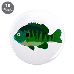 "Bluegill sunfish v2 3.5"" Button (10 pack)"