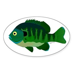 Bluegill sunfish v2 Decal