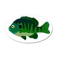 Bluegill sunfish v2 Wall Decal