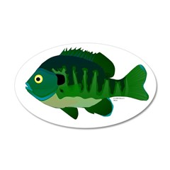 Bluegill sunfish v2 Wall Decal