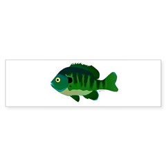 Bluegill sunfish v2 Bumper Bumper Sticker