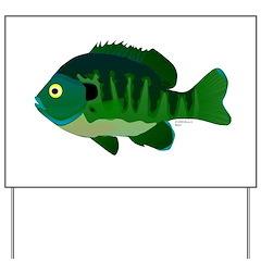 Bluegill sunfish v2 Yard Sign