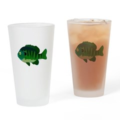 Bluegill sunfish v2 Drinking Glass