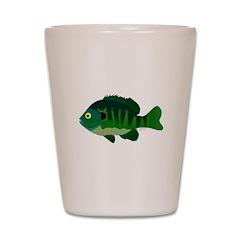 Bluegill sunfish v2 Shot Glass