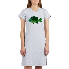 Bluegill sunfish v2 Women's Nightshirt