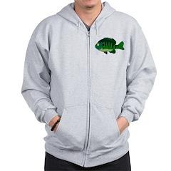 Bluegill sunfish v2 Zip Hoodie