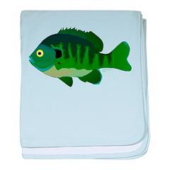 Bluegill sunfish v2 baby blanket