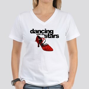 dancing with the stars - red shoe Women's V-Neck T
