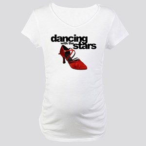 dancing with the stars - red shoe Maternity T-Shir
