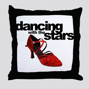 dancing with the stars - red shoe Throw Pillow