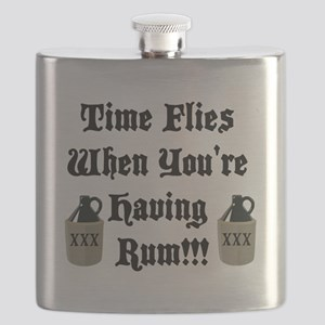 Time Flies When You're Having Rum!!! Flask