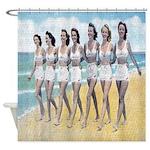 Beach Beauty Lineup Shower Curtain