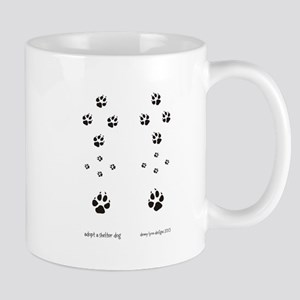 Paw Print Dog Adoption2 Mug