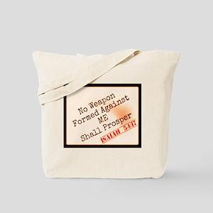 Isaiah 54:17 Tote Bag